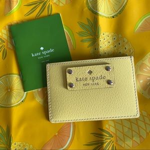 kate spade NEW Yellow Leather Card Keeper Wallet
